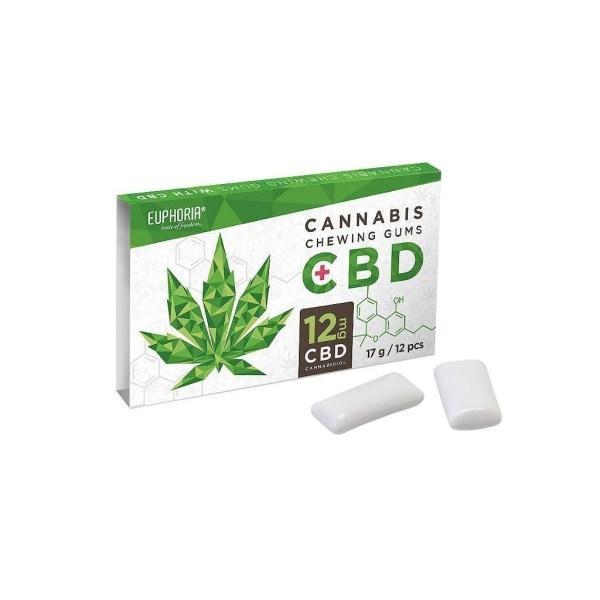 Euphoria CBD 12mg Chewing Gum  – 12pcs