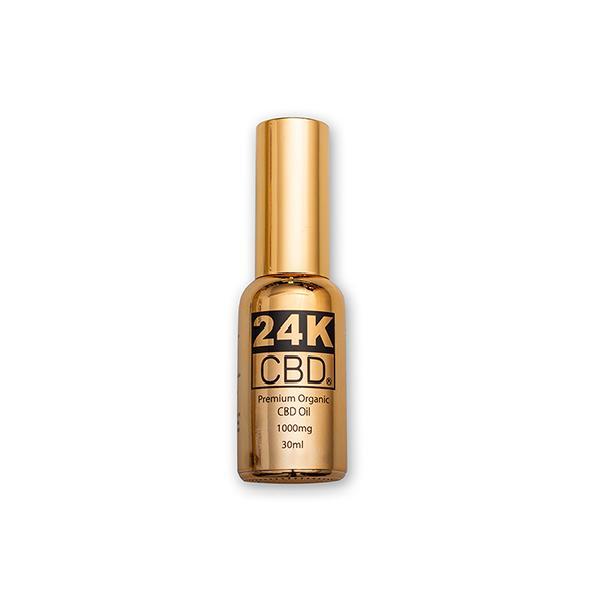 24K CBD 1000mg Premium  Organic  Hemp Seed Oil 30ML