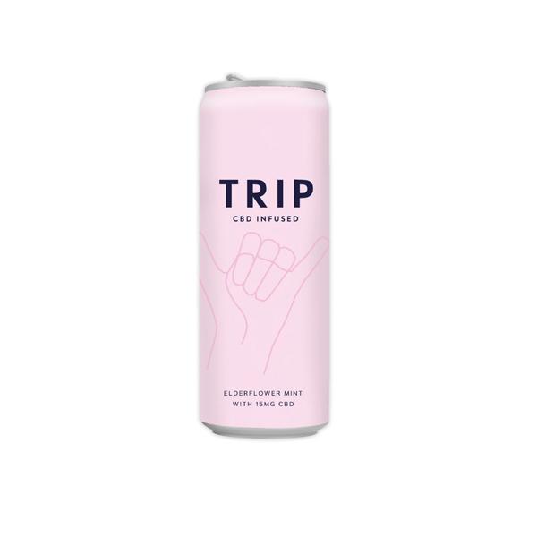 12 X TRIP 15mg CBD Infused Elderflower & Mint Drink 250ml
