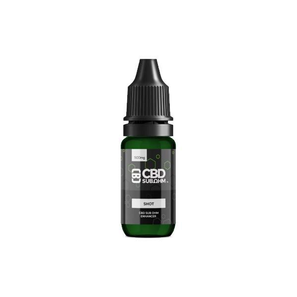 CBD Asylum 250mg CBD E-liquid Unflavoured Shot 10ml