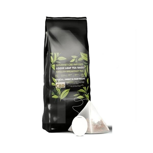 Equilibrium CBD Gourmet Loose Leaf Tea Bags – English Breakfast Tea