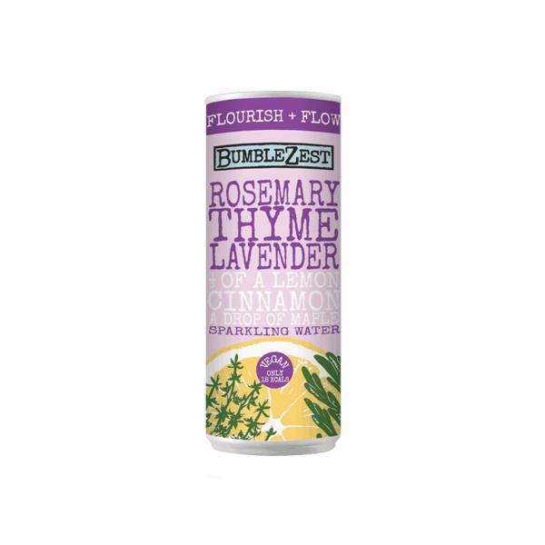 24 X BumbleZest Flourish  Sparkling Water Drink 250ml