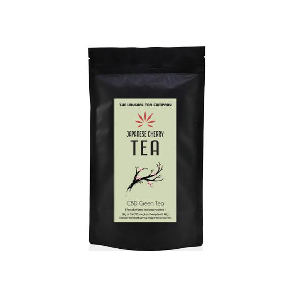 The Unusual Tea Company 3% CBD Hemp Tea – Japanese Cherry 40g