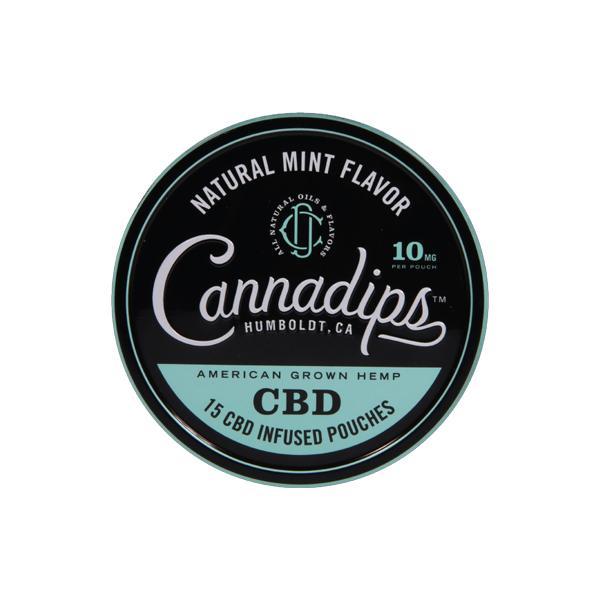 Cannadips 150mg CBD Snus Pouches – Natural Mint