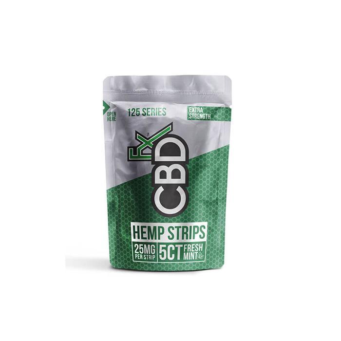 CBDFX 125mg CBD Sublingual Strips – Fresh Mint