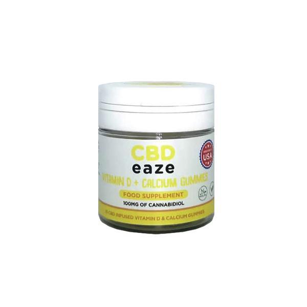 CBD Eaze Vitamin D & Calcium 100mg CBD Gummies
