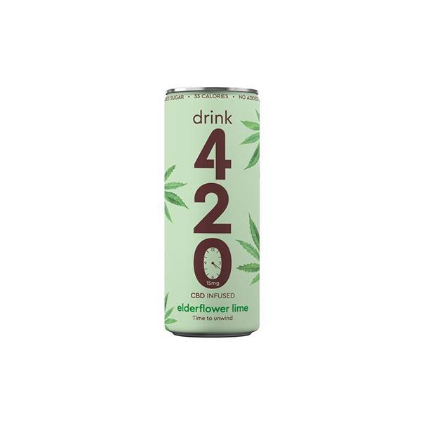 Drink 420 CBD 15mg Infused Sparkling Drink – Elderflower Lime