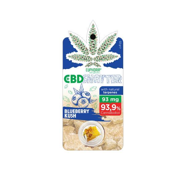 Euphoria 93mg CBD Shatter Blueberry Kush 0.1g