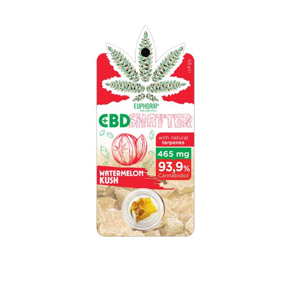 Euphoria 465mg CBD Shatter Watermelon Kush 0.5g