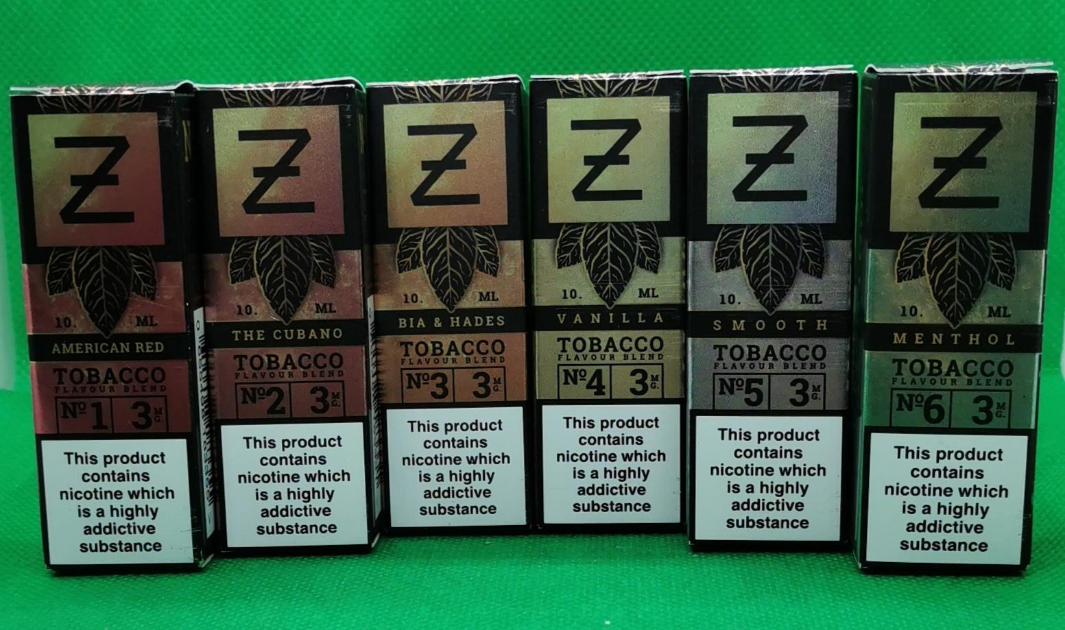 Tobacco Series By Zeus Juice 10ml Bottles